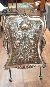 antiques atlas art nouveau embossed copper fire screen