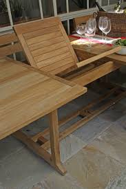 bakke 11 piece teak skinny rectangle outdoor setting