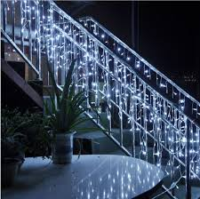 Outdoor Garland Lights 4m 96 Led Lights Outdoor Garland Led Icicle Curtain