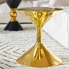 martini side table hans barbell polished brass side table modern furniture