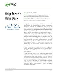 bank of america help desk case study royal bank of america
