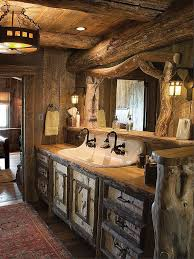 Rustic Bathrooms Picturesque Western Homes With Rustic Vibes Wood Slab Rustic