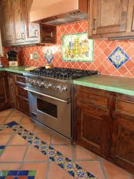welcoming rustic mexican kitchen color with weathered walls and