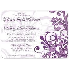 golf wedding invitations wedding invitation purple abstract floral