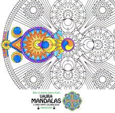 mandala coloring page space vajra printable art coloring
