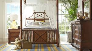 Canopy Bedroom Sets Queen by Cindy Crawford Home Key West Tobacco Canopy X 6 Pc Queen Bedroom