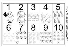 numbers worksheets for kindergarten worksheets