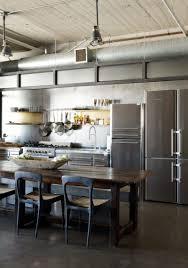 cabinets u0026 drawer brick wall dark laminate wood floors industrial