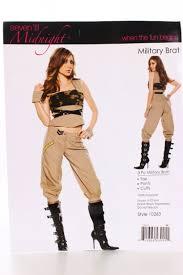 Military Halloween Costumes Women Khaki Military Brat Costume Amiclubwear Costume Store
