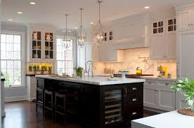 Kitchen Island Countertop Overhang Pine Wood Black Presidential Square Door White Kitchen With Dark
