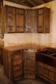 Rustic Kitchen Cabinets Rustic Kitchen Cabinets Rustic Cabinets With Hand Forged Hinges