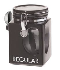 oggi kitchen canisters amazon com oggi ez grip regular coffee canister black kitchen