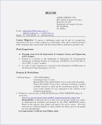 computer science resumes sle resume for assistant professor in computer science
