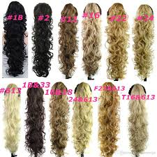 Long Synthetic Hair Extensions by Claw Clip Ponytails Synthetic Hair Ponytail Culry Wavy Hair Pieces