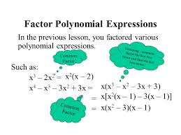 factor polynomial expressions
