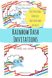 so cute free rainbow dash party invitations perfect for a my