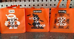 halloween trick or treat bags being genevieve
