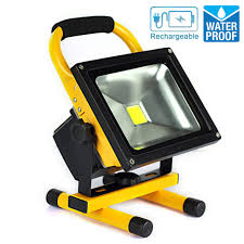 battery powered work lights 20w portable rechargeable led work light cool white floodlight