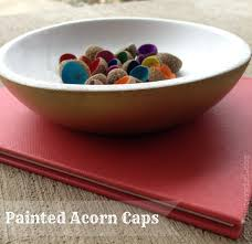 painted acorn caps