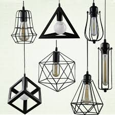 vintage warehouse lighting fixtures vintage loft pendant lights with metal cage lshade nordic