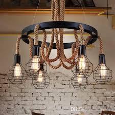 Vintage Island Lighting Luxury Retro Rope Industrial Pendant Lights Edison Vintage