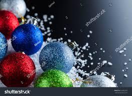christmas background theme multicolored christmas balls stock