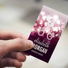 Business Cards Hair Stylist Modern Hair Stylist Pink Glitter Sparkle Business Card Templates