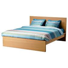 ikea bed malm bed frame high oak veneer lönset standard king ikea