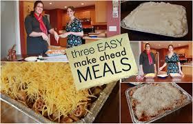 Ina Garten Make Ahead Meals Three Easy Make Ahead Meals Youtube