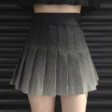 pleated skirt black grey gradient pleated skirt kw179171 kawaiimoristore