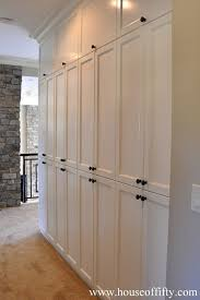 house of fifty built in storage hallway pantry leading to
