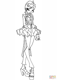 winx club princess galatea coloring page free printable coloring