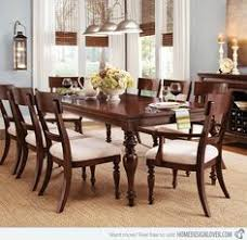 Solid Wood Formal Dining Room Sets Classic Dining Room Furniture Showing Brown Lacquer Rectangle