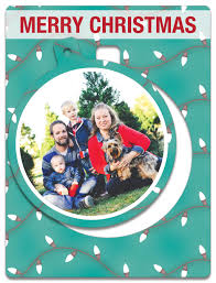 merry and bright christmas lights ornament card photopog