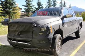 ram hd mule spied with incognito hood scoop