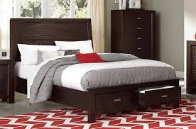 Platform King Bed With Storage Homelegance 2244k 1ck Breese Cherry Cal King Platform Storage Bed