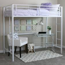 white metal twin loft bed free shipping today overstock com