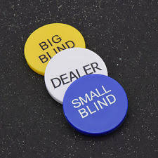 Small And Big Blind Dealer Button Casino Collectables Ebay