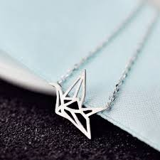 aliexpress necklace pendants images Refinement 925 sterling silver paper cranes short necklace pendant jpg