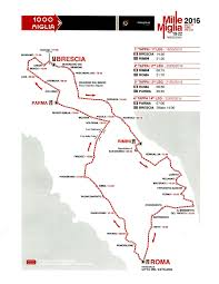 Route Map by Route Of The 2016 Mille Miglia