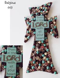 wooden craft crosses crafts with glass gems