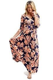 Maternity Drape Dress Pinkblush Maternity Orange Floral Draped Maternity Nursing Maxi