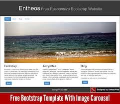 bootstrap sites templates free bootstrap template with image carousel entheos
