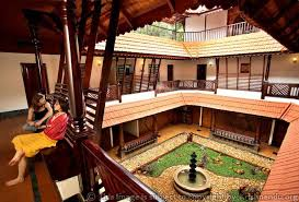 naalukettu a courtyard is created within the four sections that