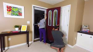 painting our front door with modern masters passionate red front