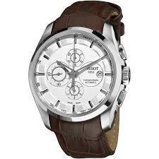 tissot watches leather bracelet images Shop tissot men 39 s 39 couturier 39 white dial brown leather strap watch jpg