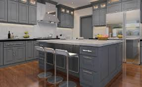 classic grey cabinets ready to assemble kitchen cabinets rta