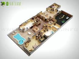 3d holiday home floor plan residential concept yantram