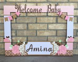 baby shower frames photo booth frame floral themed baby shower customized