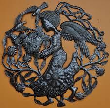 angel haitian metal steel drum art home decor fair trade project